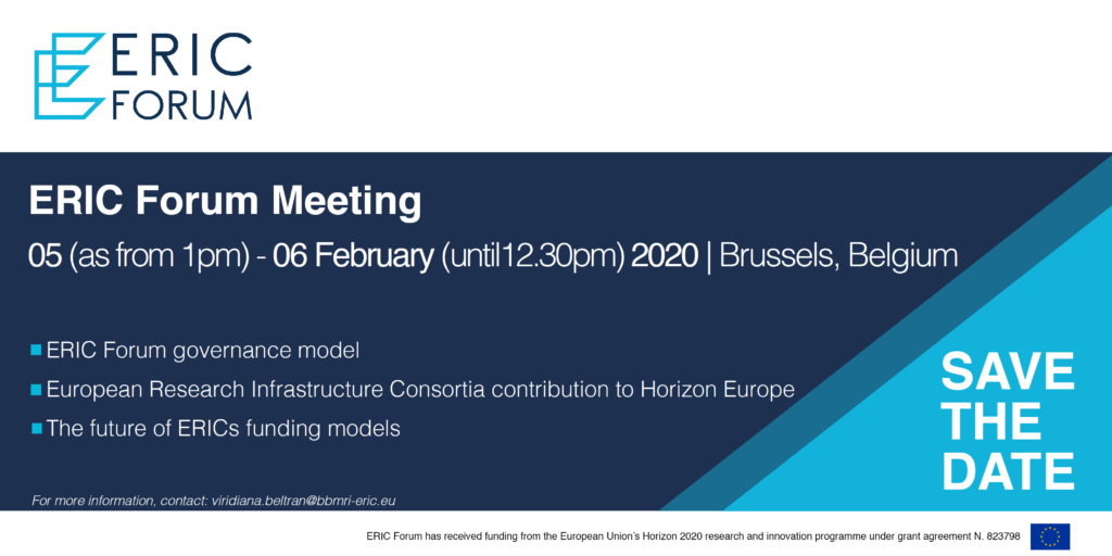 ERIC Forum Meeting | 05 - 06 February 2020 | Brussels, Belgium