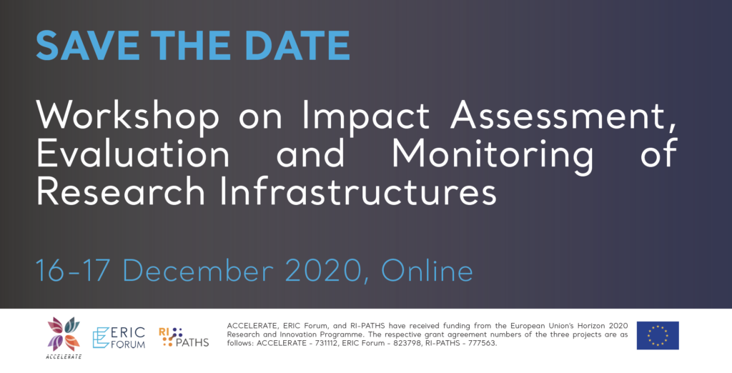 Save the date ►Workshop on Impact Assessment, Evaluation and Monitoring of Research Infrastructures