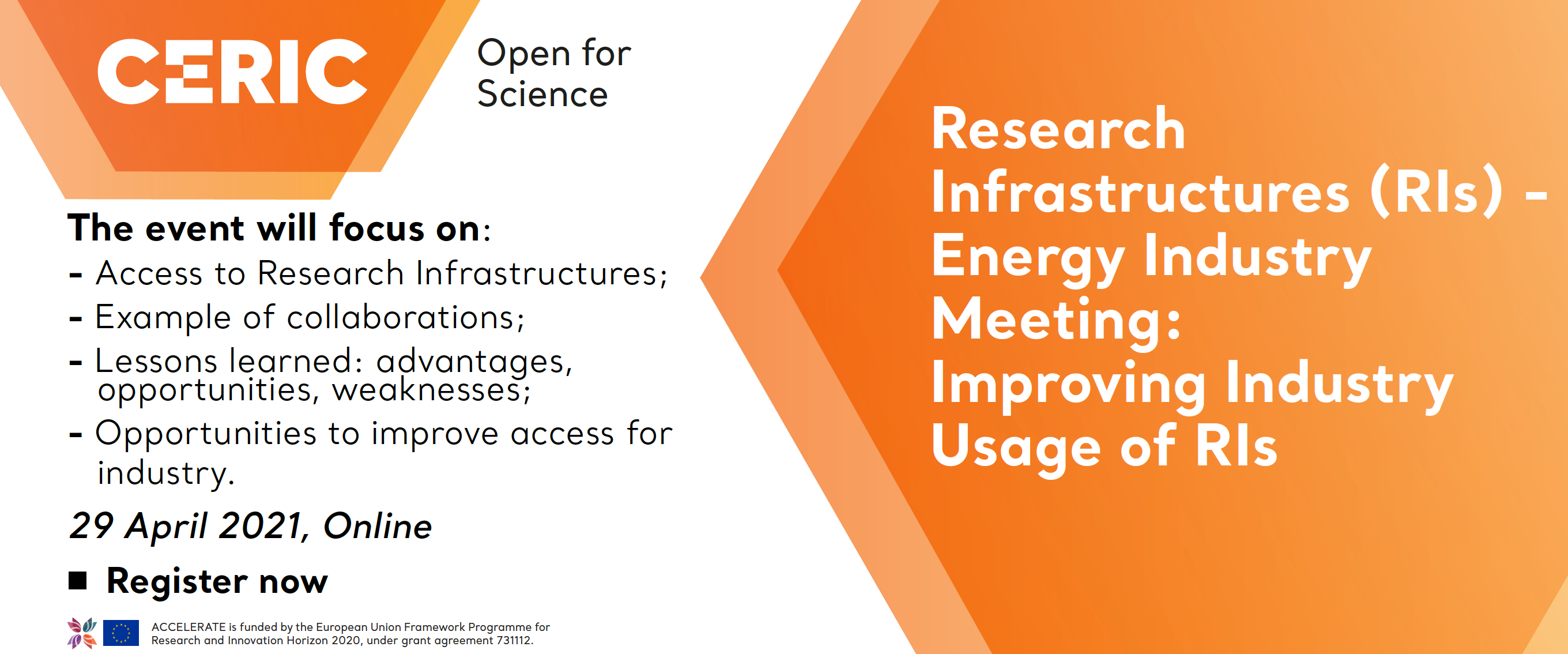 Research Infrastructures (RIs) - Energy Industry Meeting: Improving Industry Usage of RIs @ Onlie