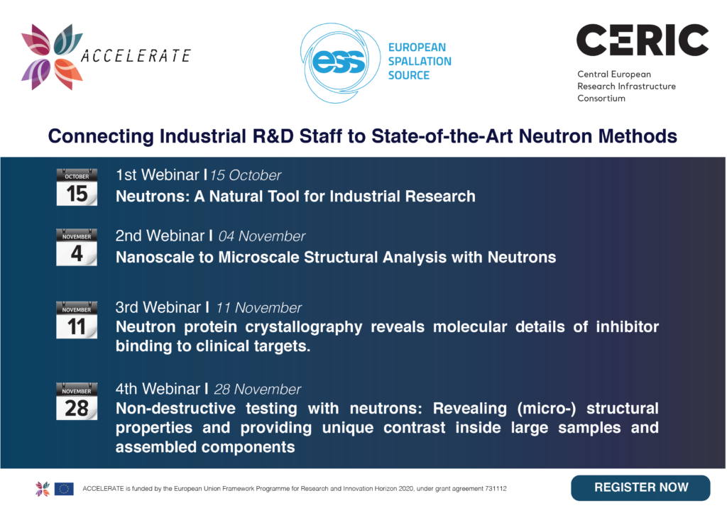 Connecting Industrial R&D Staff to State-of-the-Art Neutron Methods