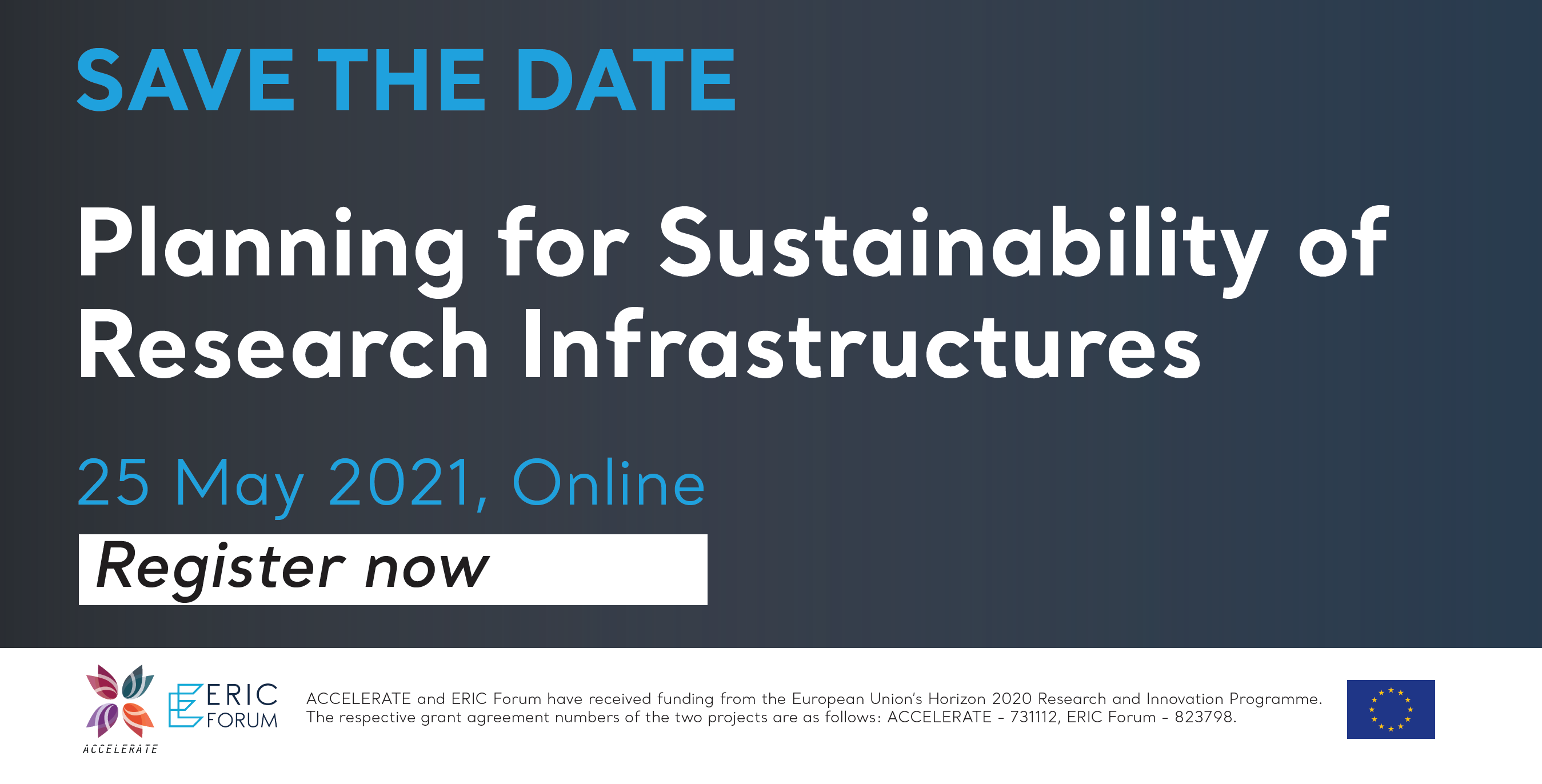 Register now ► Planning for Sustainability of Research Infrastructures